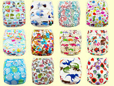 Shine Baby Infant One Size Printed Cloth Diaper Reusable Nappy Covers Inserts