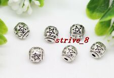 Lot 30/100/500pcs Antique Silver Exquisite Beads Jewelry Charms Psacer Beads 6mm