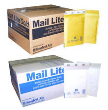 MAIL LITE PADDED ENVELOPES - BUBBLE BAGS - E/2 - WHITE & GOLD- ALL QUANTITY