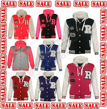 Kids Girls Boys R Hooded Fashion NYC FOX Baseball  Jacket Varsity Hoodie 6,12 Yr