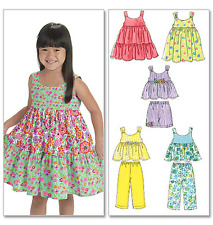McCalls 6 Looks 1 Pattern Toddler/Child Sewing Pattern 6017 Top Dress Short