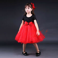 Girls Beading Sequins Embroidered Flower Bow Wedding Dress Party Formal Occasion