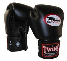 MUAY THAI KICK BOXING GLOVES TWINS SPECIAL MMA 8 10 12 14 16 18 OZ BGVL-3 BLACK