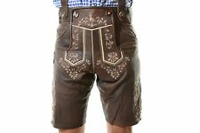 Bavarian Oktoberfest Lederhosen Lamb Leather Tracht Short German Costume #BERLIN