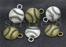Lot 10/40/200pcs Antique Silver Exquisite Baseball Charms Pendant DIY 18x14mm