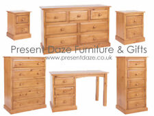 Classic Edwardian Solid Pine Bedroom Furniture with Raised & Fielded Drawers