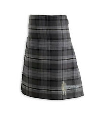 MENS SCOTTISH TARTAN DELUXE  8YD FULL KILT - HAMILTON GRAY - RANGE OF SIZES!
