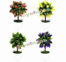 "10.5"" Artificial Pine cones Plants Bonsai potted flower plant Tree Home Decor"