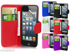 Magnetic Wallet Flip Book Holder Leather Pu Case Cover For Apple iPhone 5 5G 5S