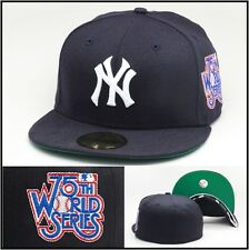 New Era New York New York Yankees Fitted Hat Cap 1978 (75th) World Series Patch