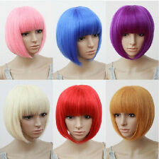 Stylish 6 Colors  Fancy Short Wig Cosplay Party Costume Straight Wigs Full Wig