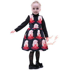 Girls Character Printing Floral Fancy Dress Polyester Princess Halloween Costume