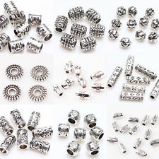 Hot 50/100Pcs Tibetan Silver Loose Spacer Charms Beads Finding Craft 17Styles