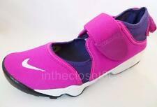 New Nike Air Rift GS Flash Fuschia Pink White Purple Girls Womens Trainers