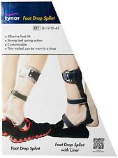 Tynor AFO Drop Foot Brace Ankle Orthosis Splint with Liner for Right Foot