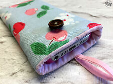 iPhone Padded Case / Sleeve Made in Cath Kidston Cherries Fabric All Sizes