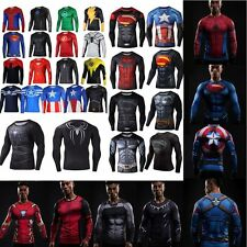 Superhero Marvel Costume Cycling T-Shirts Long Sleeve Bicycle Jersey Sports HOT