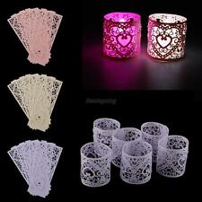 6x Battery Operated Tea Lights Holders Wedding Party Decor Votive Candle Holders