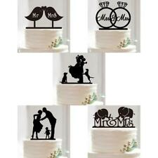 Mr Mrs Wedding Cake Topper Silhouette Bride Groom Wedding Acrylic Cake Topper