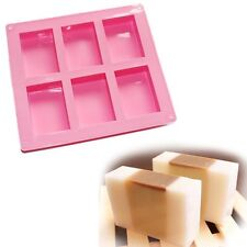 1-5pcs Silicone 6-Cavity Rectangle Soap Cake Mold Mould Tray Homemade Craft DIY