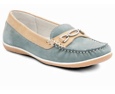 Padders Brighton Soft And Lightweight Wide Fit Nubuck Leather Moccasin Loafer