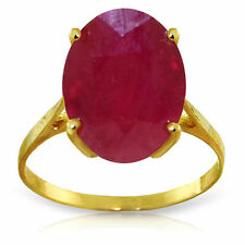 Genuine Ruby 7.5 ct Oval Gemstone Solitaire Ring in 14K Yellow, White, Rose Gold