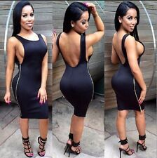 Summer Women Bodycon Bandage Side Zipper Party Cocktail Short Mini Club Dress