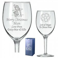 Personalised Wine Glass Uncle Auntie Grandma Christmas Birthday Gift 073