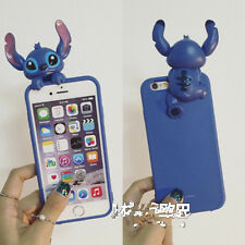 Cartoon 3D cute blue Stitch soft TPU case cover skin for apple iphone 6 6S plus