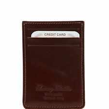 TUSCANY LEATHER leather credit card holder for card and money made in Italy