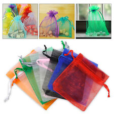 100pcs Organza Pouch Jewelry Gift Candy Bag Wedding Christmas Party Favors 7x9cm