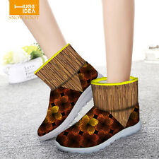 New Womens Flat Ankle Boots Slip On Winter Warm Thicken Shoes Snow Joggers Boots