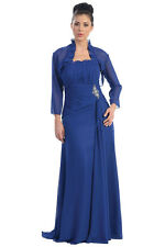 Mother of the Bride Strapless Chiffon Plus Size Formal Evening Long Gown