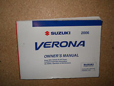 2006 SUZUKI VERONA OWNERS MANUAL