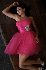 Short Cocktail Tulle Skirt Strapless Solid Prom Homecoming Formal Dress Dance