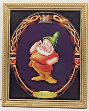 Doc of Disney Snow White and the Seven Dwarfs Framed Picture RARE