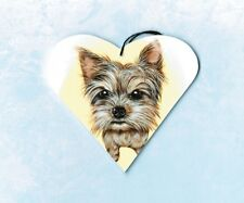 Yorkie Ornament Or Magnet Yorkshire Terrier Christmas Tree Decoration Heart