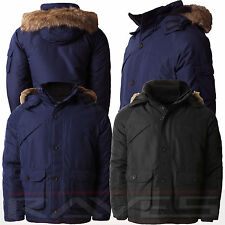 Mens Parker Parka Fashion Warm Padded Winter Jacket With Fur Hood Coat CANADA