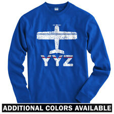 Fly Toronto YYZ AIrport Long Sleeve T-shirt LS - Pearson WestJet CA  Men / Youth