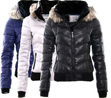 SUBLEVEL LADIES WINTER JACKET SHORT QUITLED JACKET BOMBER JACKET WET HOODY