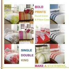 3pc Bedding Printed Duvet Quilt Cover Set in 5 Designs Single Double & King Size