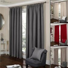Luxury Lined Jacquard Pencil Pleat Tape Top Curtains in 9 Sizes & 4 Colours