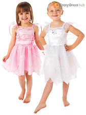 Girls White Pink Fairy Fancy Dress Costume Kids Christmas Outfit Childs Nativity