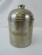 VINTAGE BORDEN'S MALTED MILK SODA FOUNTAIN STAINLESS STEEL CANISTER