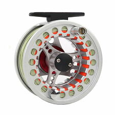 Pre-Spooled Fly Reel 5/6/7/8 WT Silver Aluminum Fly Fishing Reel & Fly Line