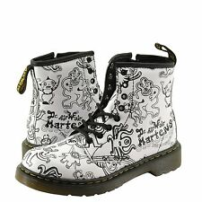 Juniors Dr. Martens Delaney Wigan Wiggy World Combat Boot 15382104 White *New*