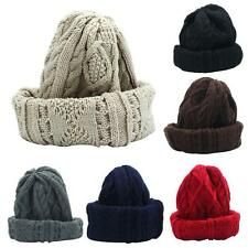 Unisex Knit Baggy Beanie Beret Winter Warm Oversized Ski Cap Fashion Solid Hat