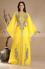 NEW DUBAI KAFTAN ABAYA JALABIYA JILBAB FANCY PARTY WEAR ISLAMIC DRESS 3813