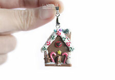 Christmas Candy Gingerbread Pendant Necklace TOP Holiday Gifts OOAK