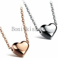 Women's Stainless Steel Polished Heart Charm Pendant Necklace Mother's Day Gift